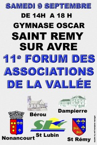 FORUM DES ASSOCIATIONS A ST REMY SUR AVRE @ ST REMY
