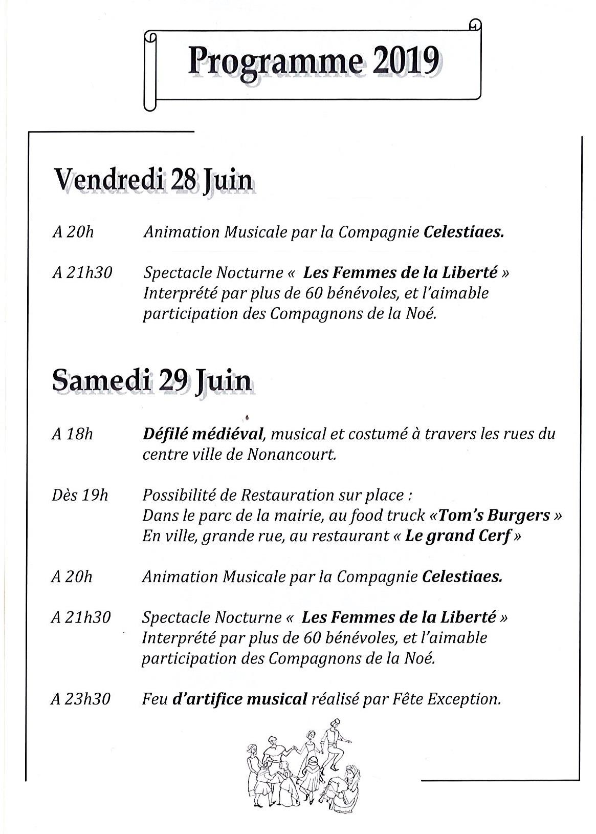 Calendrier Fete Medievale.Fete Medievale Spectacle Nonancourt