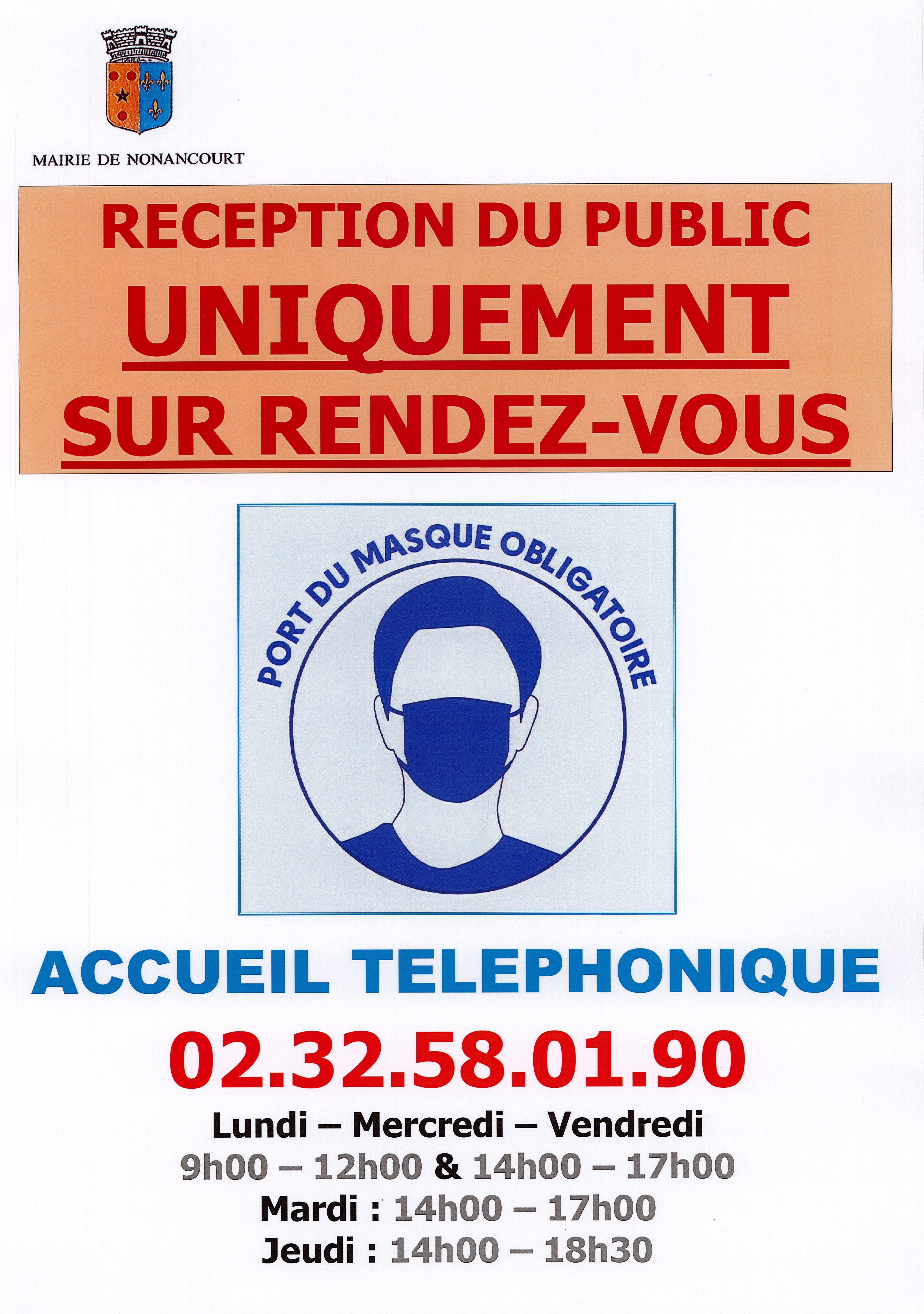 Affiche mairie port masque obligatoire