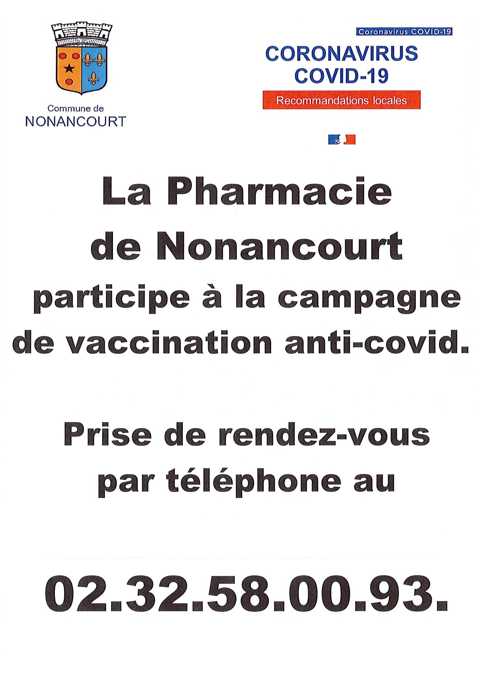 Affiche Pharmacie vaccination
