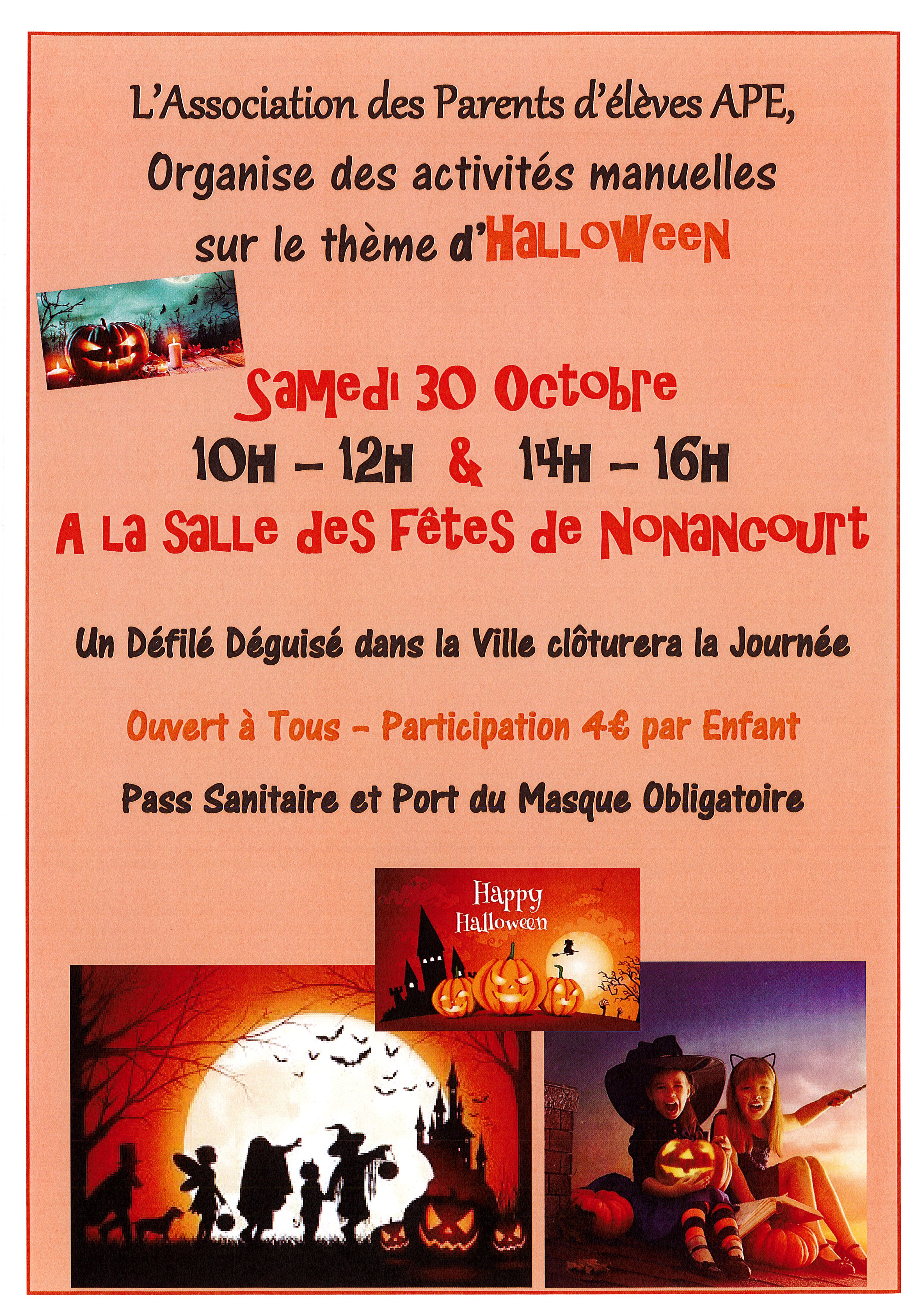 """L'association """"Les Petits écoliers"""" fête Halloween"""