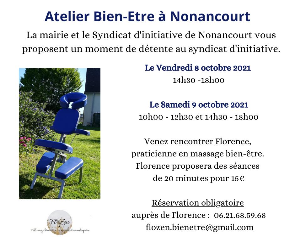 Atelier Massage à Nonancourt